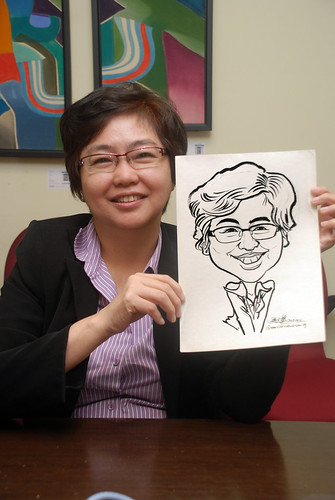 Caricature live sketching @ UOB Finance Division - 2