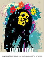 (freestylee) Tags: music art poster bobmarley onelove michaelthompson