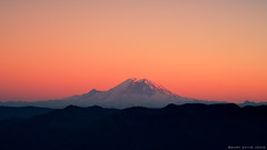 Stratovolcano (mj.foto) Tags: sunset landscape nikon mt pacific northwest south si central mount rainier cascades nikkor snoqualmie stratovolcano d700