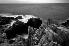 0025 (Andreas Lindholm) Tags: longexposure sunset blackandwhite bw water rock dawn rocks 1224mm waterscape kullaberg d90 nd110