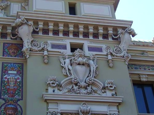beautiful decoration on outside wall of casino