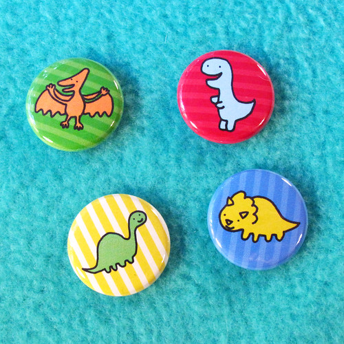 Dinosaur Button Set 4