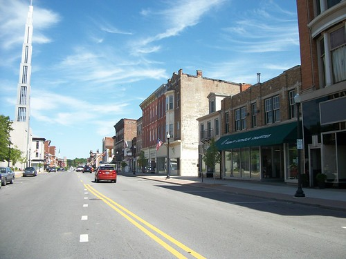 looking down Maine Street