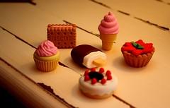 (celestialkitten) Tags: cute ice cake pie dessert eraser cream biscuit erasers tumblr