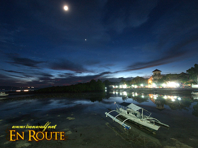 Evening lights at Baclayon Baluarte