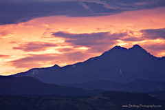 Longs Peak and Mount Meeker At Sunset (Striking Photography by Bo Insogna) Tags: sunset orange nature sunrise landscape photography gold golden colorado gallery forsale decorative fineart scenic wallart burning galleries twinpeaks posters stockphotos co mtmeeker striking stockimages naturephotography strikingphotography buyprints coloradonaturephotography boinsogna thelightningmancom strikingphotographycom insogna thelightningman jamesinsogna lonkspeak