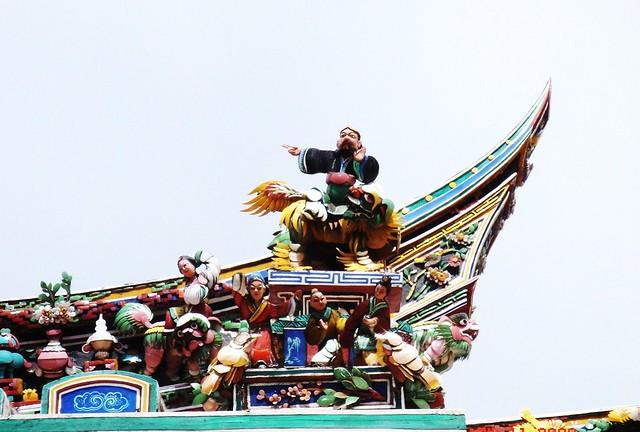 DSC01907 马六甲青云亭 屋顶雕饰,Cheng Hoon Teng Temple,Malacca