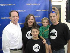 Amanda Modispaw and family with Pat Toomey