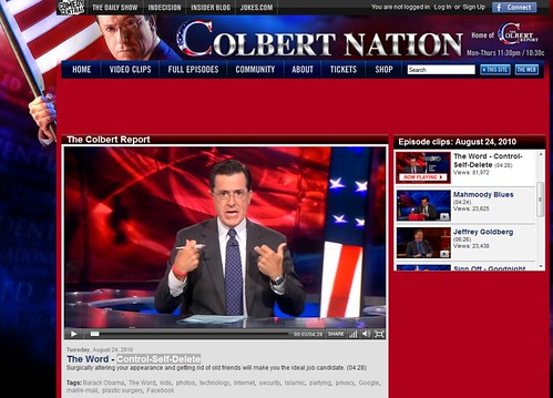 Colbert Report, copie d'écran