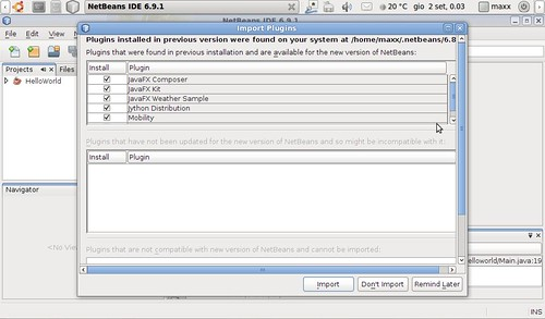 Once Netbeans 6.9.1 has been properly installed and set-up I removed the