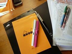 #dailyarsenal (ladydandelion) Tags: writing notes pens montblanc lamy sheaffer rhodia scribbling fountainpens lamyvista diamine lamysafari dailyarsenal