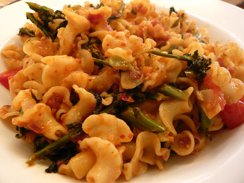 Pasta with broccoli and nduja