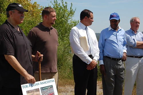 Gray, Wells, and Barry with Brent Bolin of the Anacostia Watershed Society.