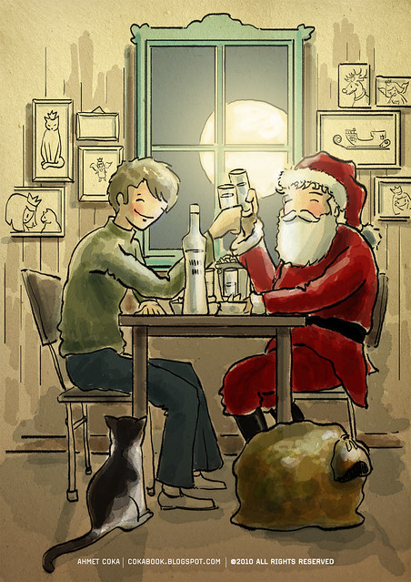 drinking with santa