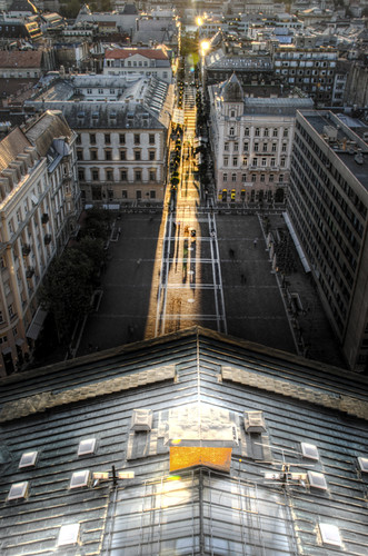 Street of light. Budapest. Calle de luz