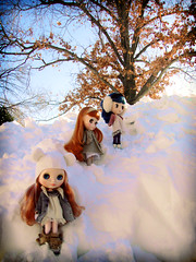 climbing the snow