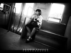Girl in the Train (Shabbir Ferdous) Tags: light people blackandwhite bw train thailand photographer shot bangkok teen ef2470mmf28lusm younggirl bangladeshi mahachai thaigirl maeklongriver shabbirferdous mahachaitrainstation samuthsakornprovince wwwshabbirferdouscom shabbirferdouscom