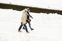 Tourists (ralph and jenny) Tags: nyc newyorkcity vacation snow newyork weather hotel centralpark snowstorm snowing snowfall centralparksouth blizzard jumeirahessexhouse afvrzoom18200mmf3556gifed nikond7000