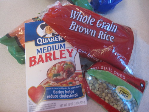 barley?  rice?  beans?  sure!