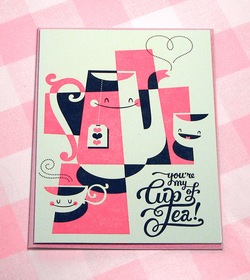 Youre my Cup of Tea (valentines card) by Esther Aarts