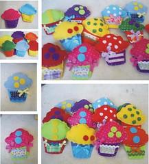 cupcake (Baby e Keridinha) Tags: cupcake fuxico bebê feltro anjos anjinho tecido enfeite bolinhos retalho patwork colchonete colchaderetalho