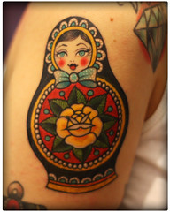Russian Doll from Valerie Vargas (ladybastard_harajuku) Tags: cute tattoo doll artist girly kawaii vargas russian valerie matrioska
