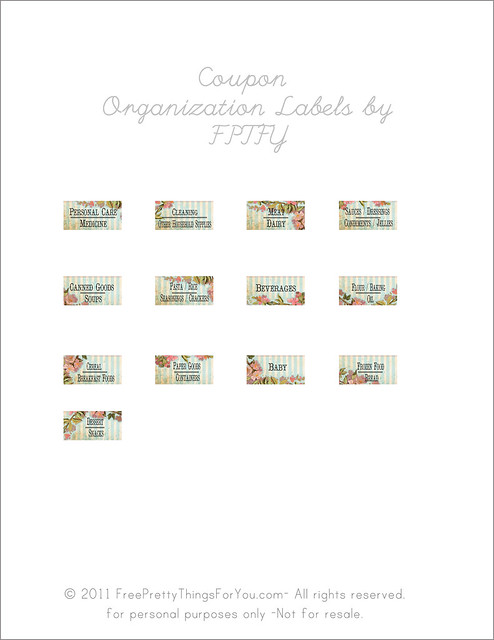 coupon organization labels Free