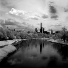 Melbourne IR (wezzahd) Tags: 6x6 river square landscape australia melbourne mat 124g infrared yarra medium format yashica hoya efke r72 lc29 ir820