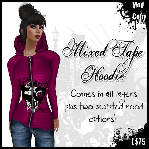 [IF] {Hoodie} Mixed Tape - [Raspberry] Ad