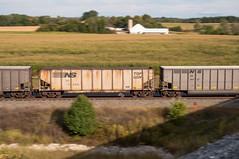 14-5862 (George Hamlin) Tags: pennsylvania greencastle railroad freight train coal hoppers empties pan farm barn ns 747 top gon field trees rural photo decor george hamlin photography