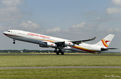 Surinam Airways A340-300 PZ-TCR (birrlad) Tags: amsterdam ams schiphol international airport netherlands aircraft aviation airplane airplanes airline airliner airlines airways takeoff departing departure rotate climbing runway airbus a340 a343 a340300 a340313 pztcr surinam paramaribo