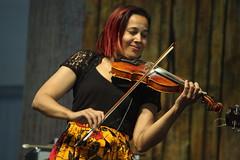 Rhiannon Giddens (2017) 04 (KM's Live Music shots) Tags: americana unitedstates rhiannongiddens fiddle violin neworleansjazzheritagefestival bluestent fairgroundsracecourseneworleans
