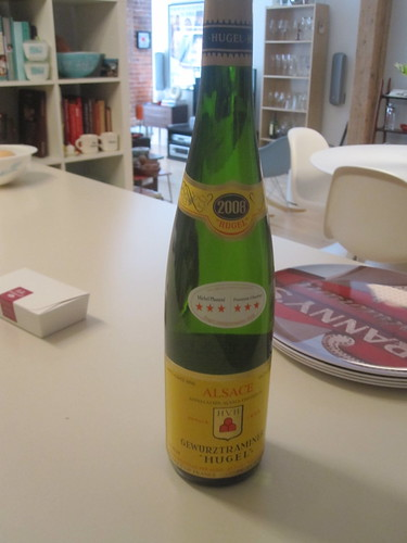 Alsace wine brought by mom