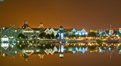 Disney's Beach Club Resort at Night