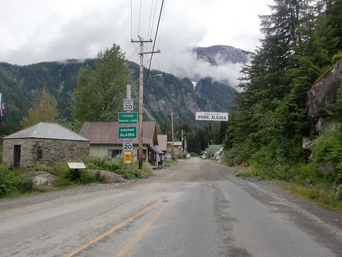 Entrando en Hyder, Alaska