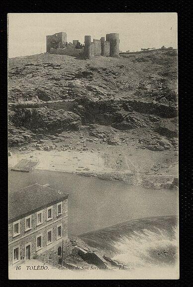 Castillo de San Servando hacia 1880. Foto Levy