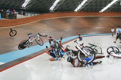 Pan-Ams-Mens Scratch Crash