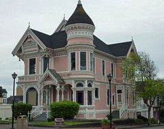 Old Victorian houses in Eureka, CA