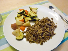 Lentils, rice & veggies