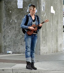 Mohawk Troubadour (knightbefore_99) Tags: street music station vancouver bc ukulele candid mohawk grandview skytrain commercialdrive eastvan troubadour thedrive