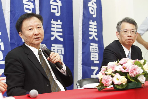奇美電子2010年股東常會_會後記者會