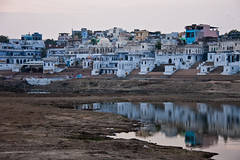 Sunset on Pushkar, Rajasthan, India (fabriziogiordano23) Tags: trip travel sunset india holiday reflections town asia tramonto historic journey indie pushkar reflexions riflessi viaggio vacanza rajasthan autofocus indland    storica  beautifulphoto   flickraward  flickrestrellas  fabbow flickrunitedaward mygearandmepremium ringexcellence
