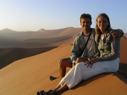 Sunrise over Sand Dunes soussesvlei Namibia