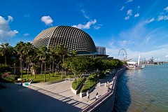 The Durian by the river (pignettee) Tags: esplanade singaporeriver