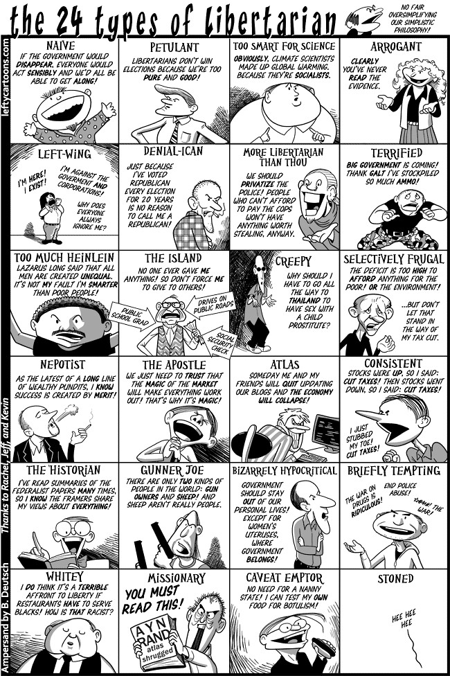 24 types of libertarian, by Barry Deutsch