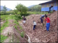 Digging a trench next to the Orphanage.jpeg