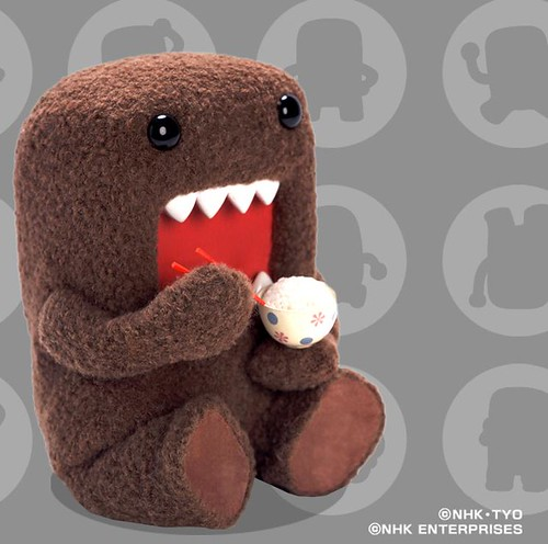 Domo Eating Rice