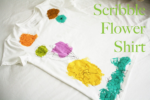 Scribble Flower Shirt Tutorial