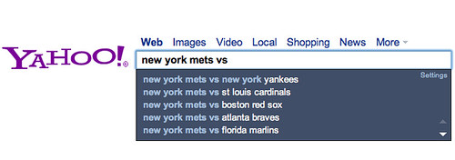 Yahoo Search Assist Real Time