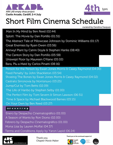 ARKADE Cinema schedule